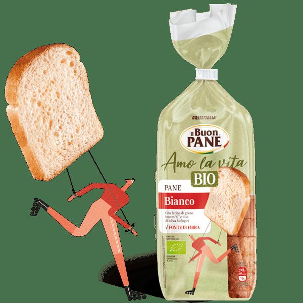 Amo la vita BIO grissitalia pane morbido pane bianco il buon pane panbauletto